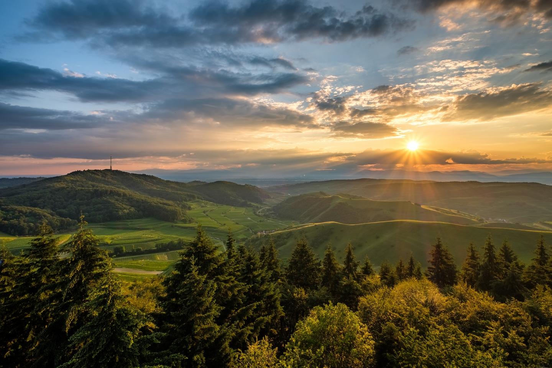 Sonnenuntergang Eichelspitzturm